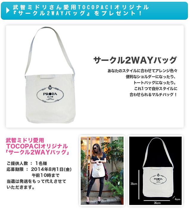 武智ミドリさん愛用TOCOPACI「サークル2WAYバッグ」をプレゼント!